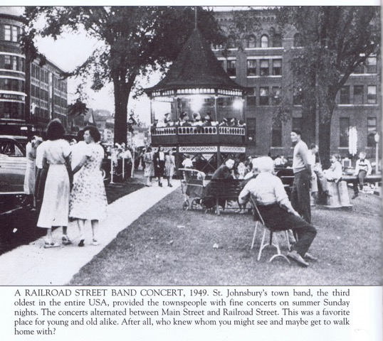 Railroad Street Bandstand 1949