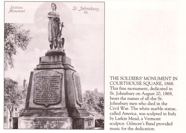 Soldiers Monument in Courthouse Square